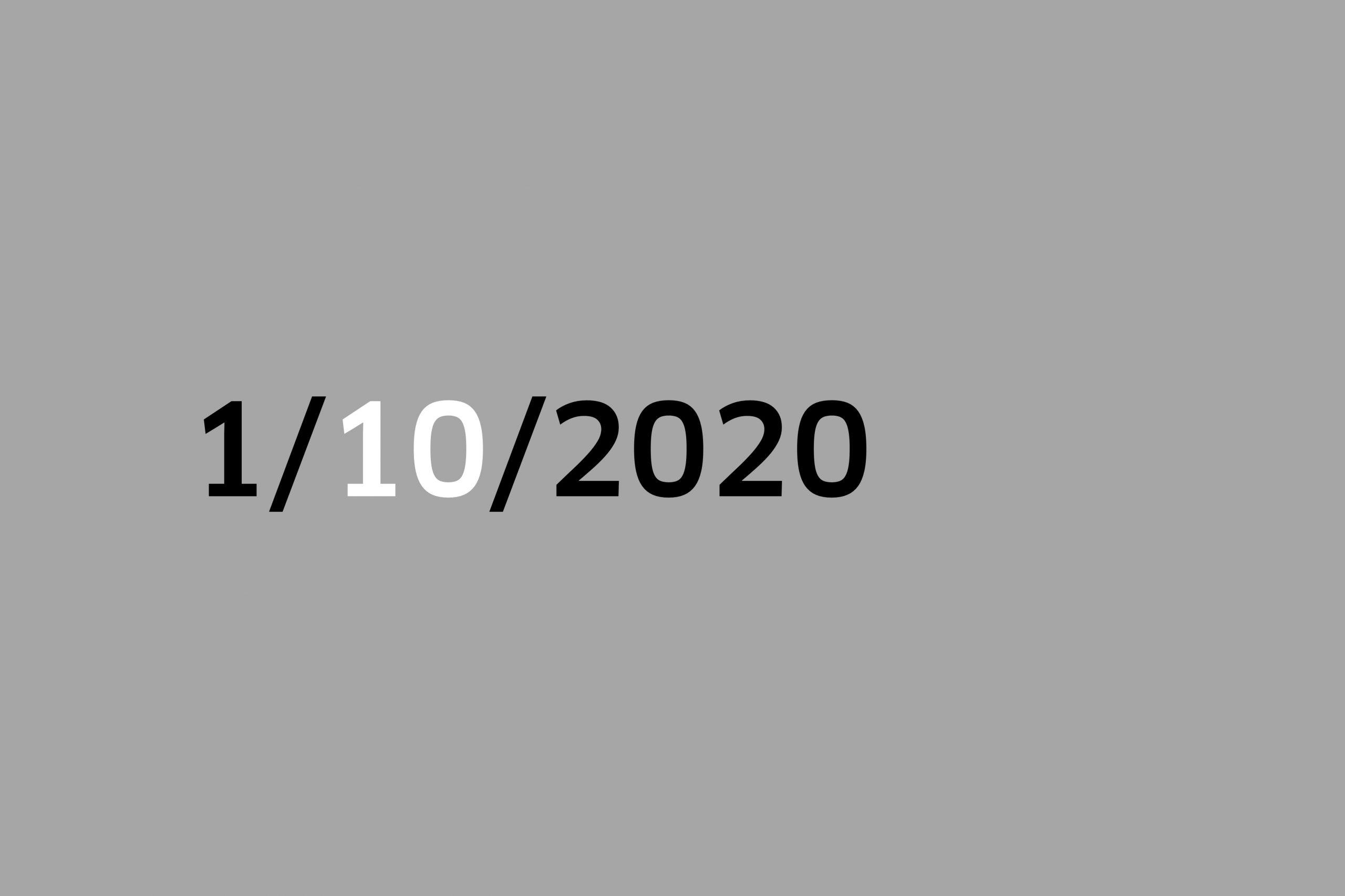 Studio 1/10/20