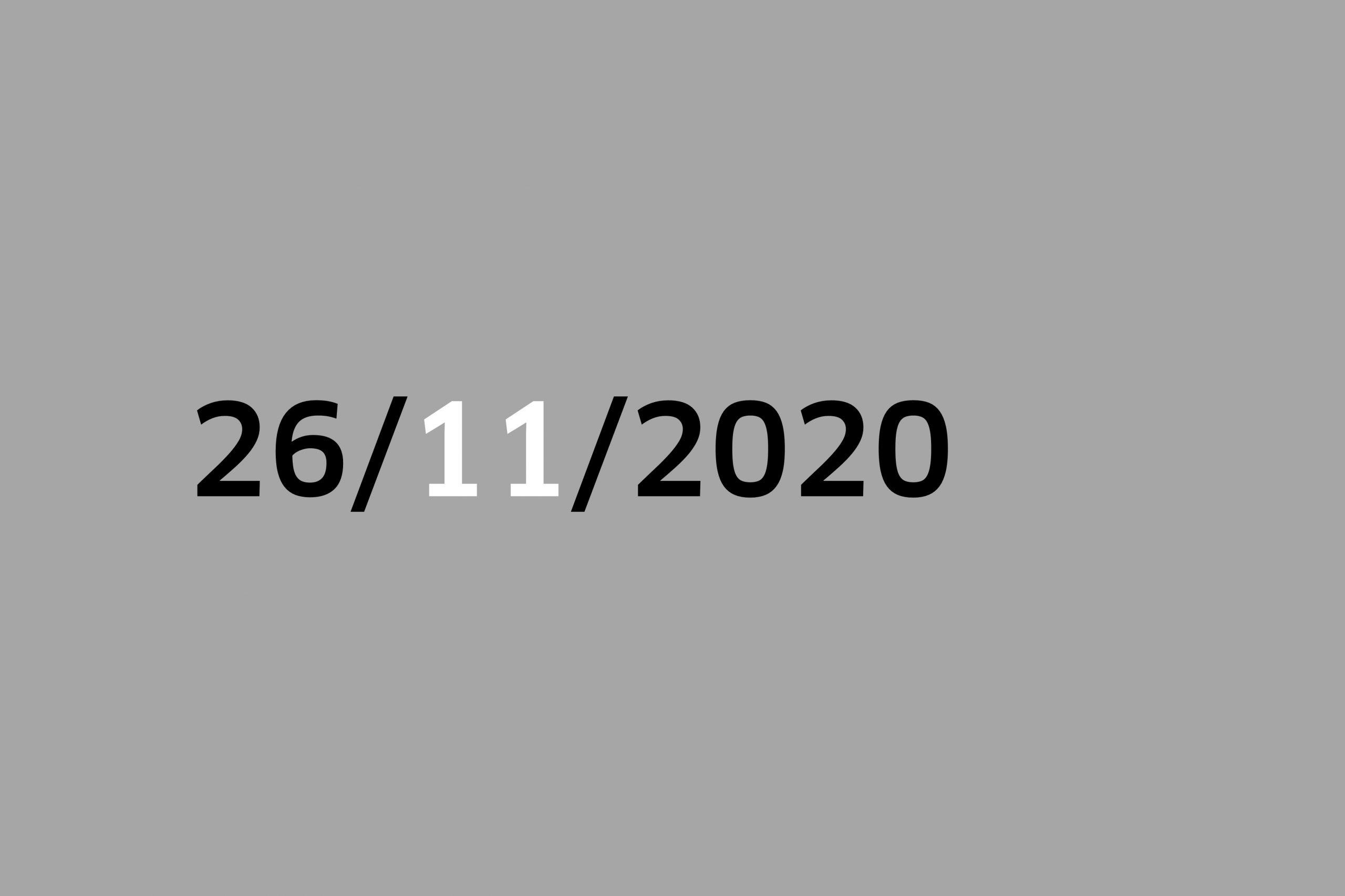 Studio 26/11/20