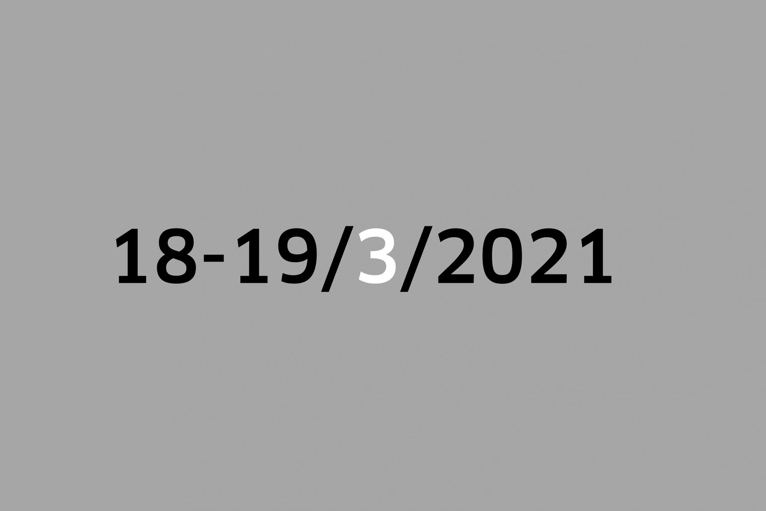 Studio 18-19/3/2021
