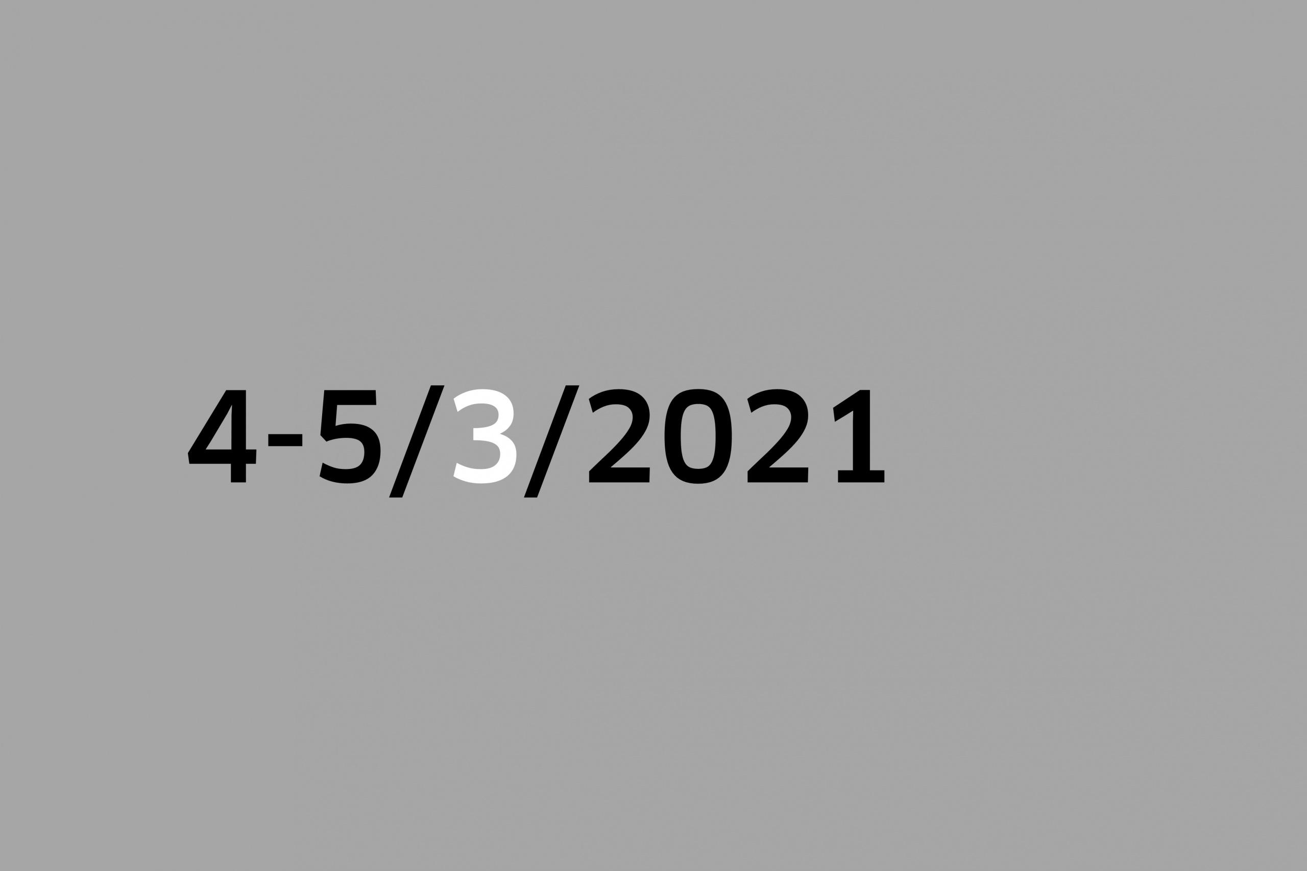 Studio 4-5/3/2021