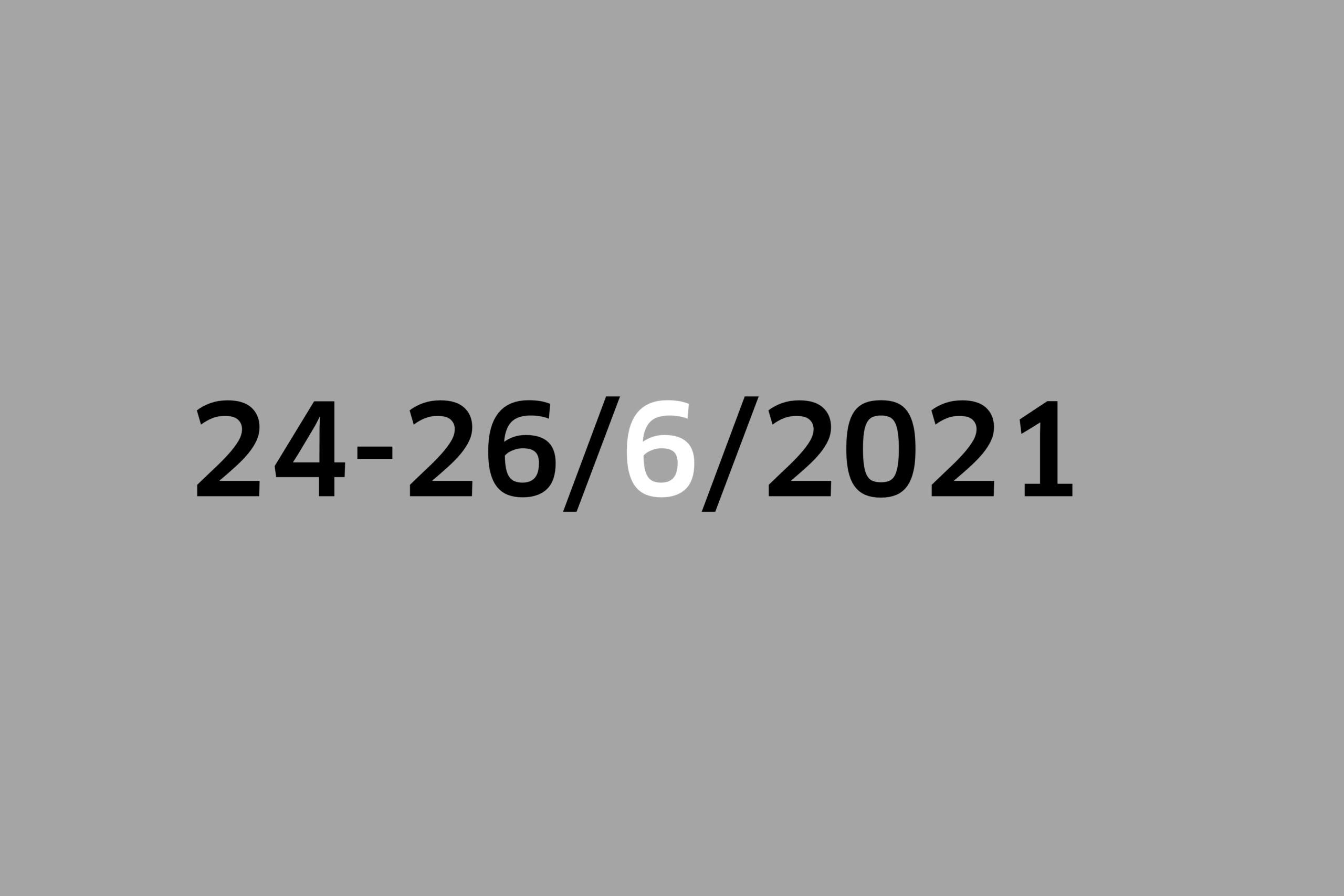 Studio 24-26/6/2021